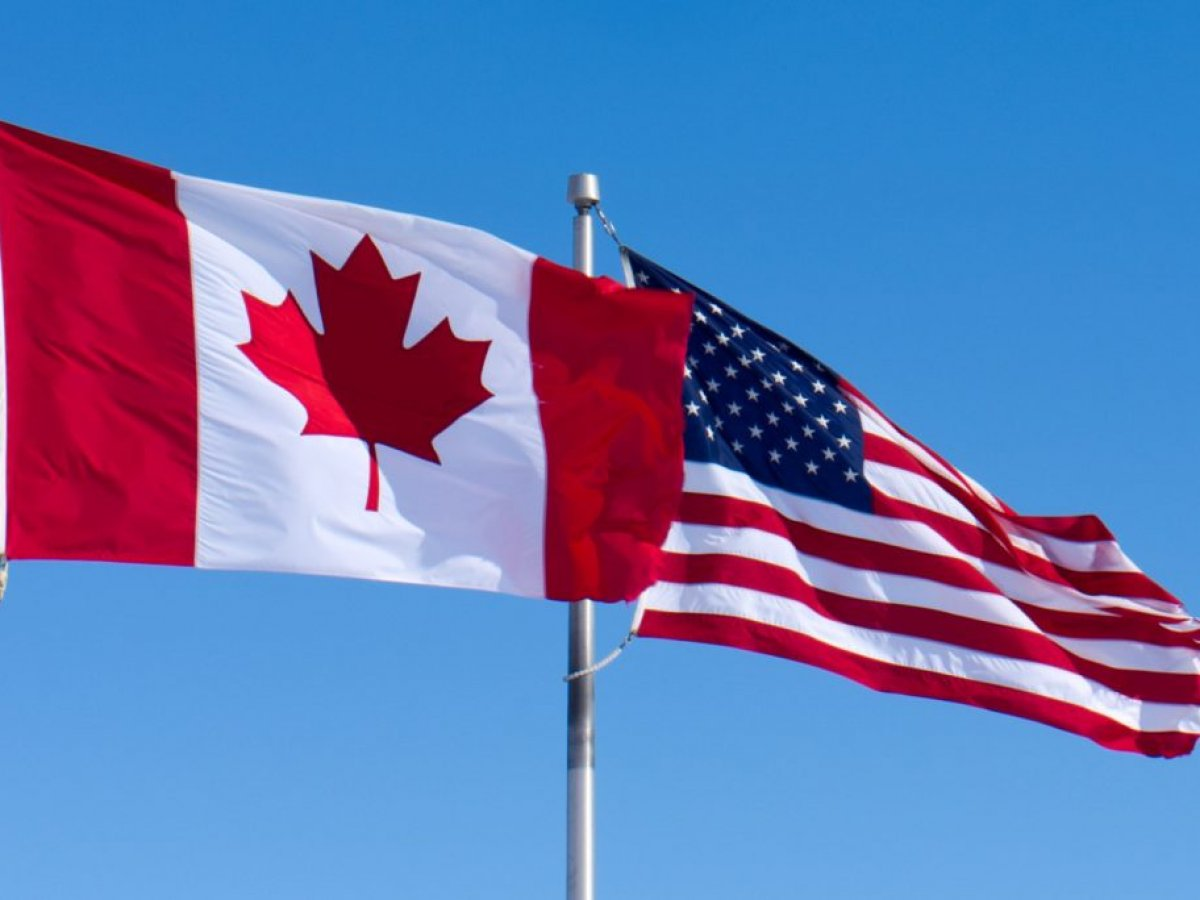 US & Canada flags